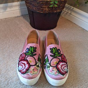Dirty Laundry Embroidered Sneakers - 8